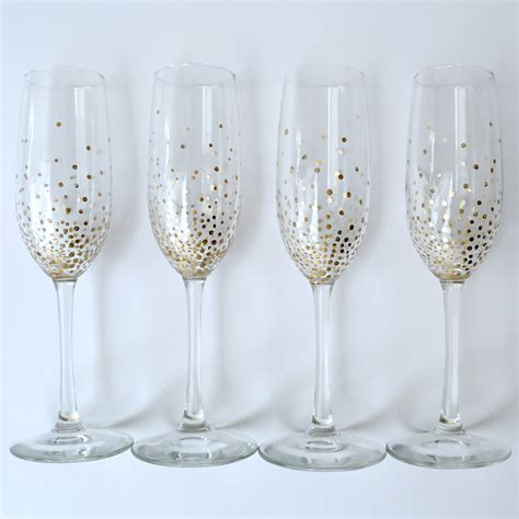 Decoration Ideas For Party At Home by Diy Gold Dot Champagne Flutes Lulus Com Fashion Blog
