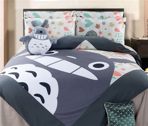 totoro bed sheets new 2016 unique totoro neighbor bedding set 4pc queen size