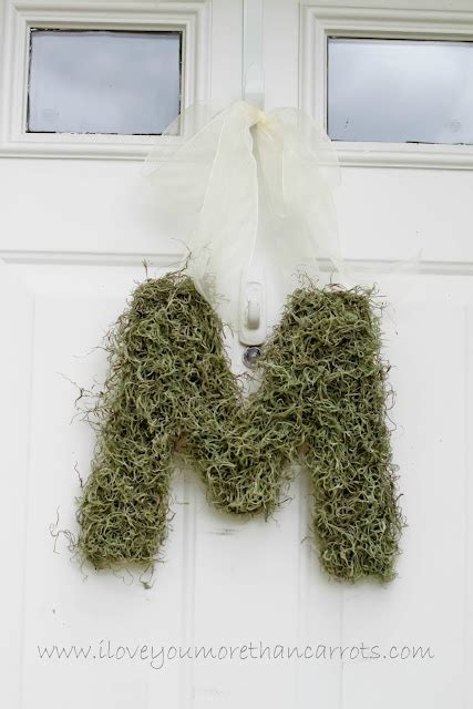 large moss covered letters 17 best images about decorative letters numbers on