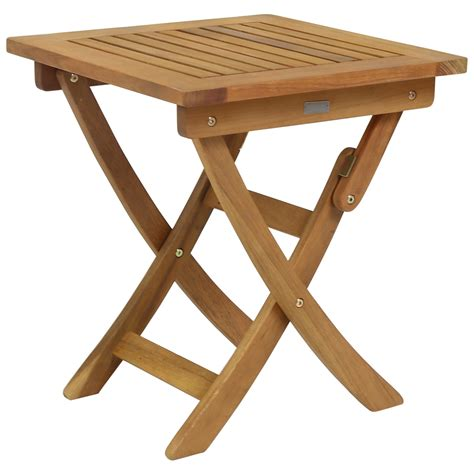 Folding Wooden Garden Table Small Foldable Wooden Garden Side Table Buydirect4u