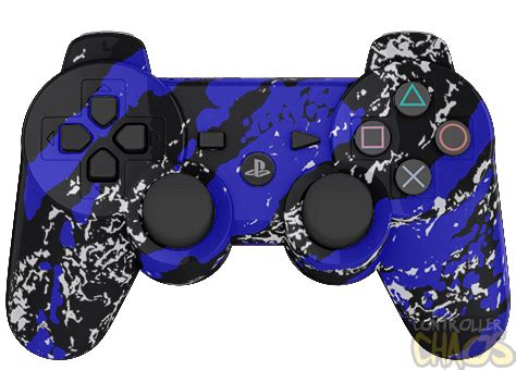 Ps4 Steep Reg 3 By Skygamez blue splatter ps3 modded controller