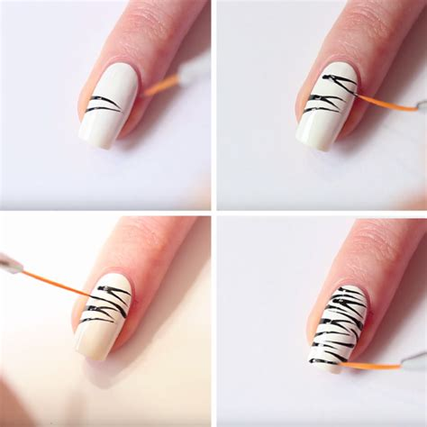 easy nail art print zebra nails easy zebra print nail art tutorial nail designs