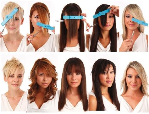 how to use the crea clip for side swept bangs perfect layered haircut at home girl from arabia