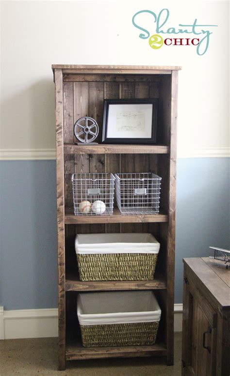 build wooden bookcase woodworking projects