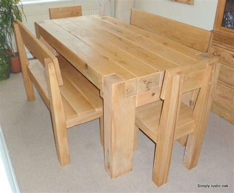 Handmade Oak Dining Table - bespoke rustic oak dining tables custom made tables by