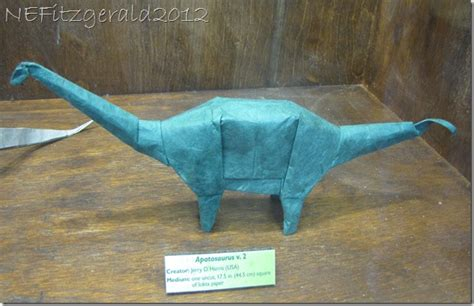 Origami Dinosaur Brontosaurus - for rocks travels of a sharp eyed geologist
