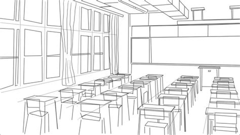 Drawing 1 Class In College by How To Draw A Classroom
