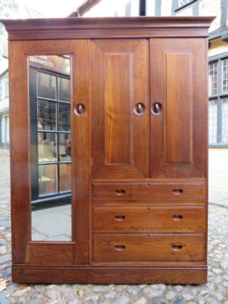 heals wardrobe in fumed chestnut arts crafts antiques