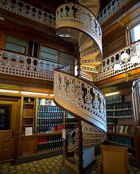 iowa law library detail of spiral stairs iowa state law library by rskent