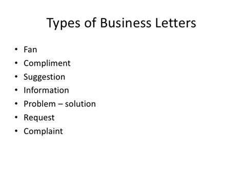 Types Of Business Letter Slideshare how to write business letters