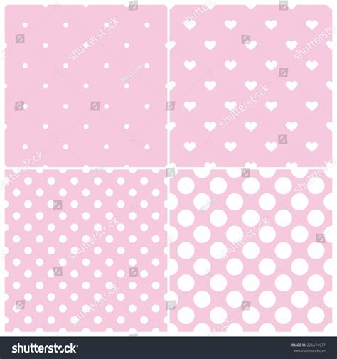 pattern cute pink vector cute pink tile vector pattern set with white polka dots