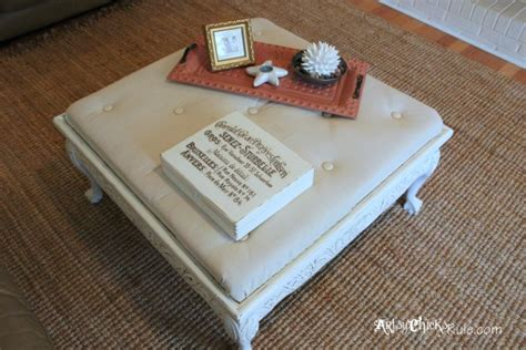 ottoman that turns into table thrift store coffee table turned diy tufted ottoman