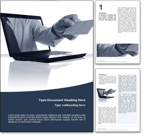 Free Business Templates For Word royalty free business microsoft word template in blue