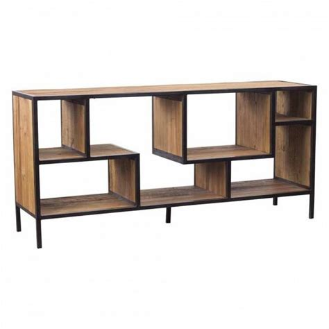 Bookshelf Sofa Table Helena Brown Console Bookcase