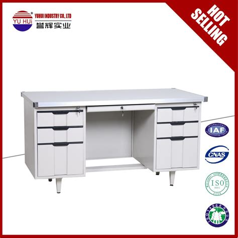 plastic office desk iron white office desk with 6 drawers plastic handles