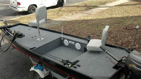 custom jon boat with stereo system jon boats pinterest - Bass Boat Stereo Ideas
