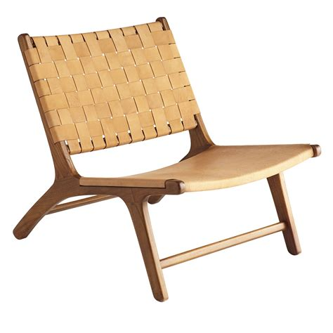 Leather Lounge Chair by Woven Leather Lounge Chair Wisteria