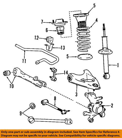 95 Lexus Ls400 Parts Lexus Toyota Oem 4878050020 95 97 Ls400 Rear Suspension