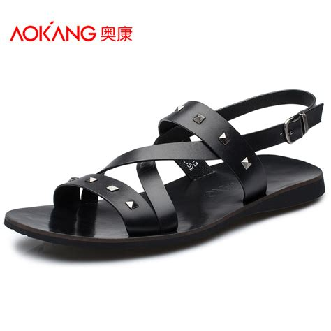 comfortable summer shoes aokang summer shoes 2015 new trend casual leather sandals