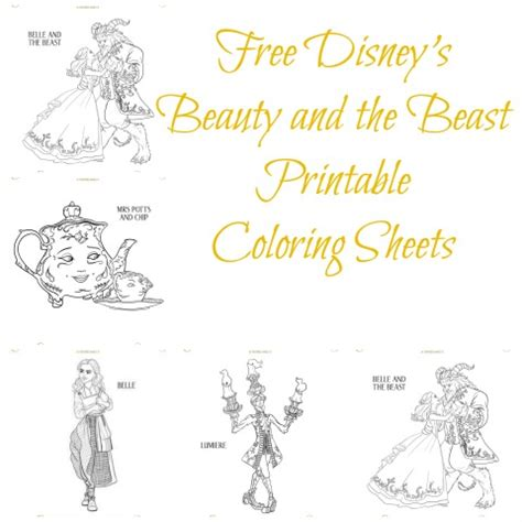 printable version of beauty and the beast free disney s beauty and the beast printable coloring