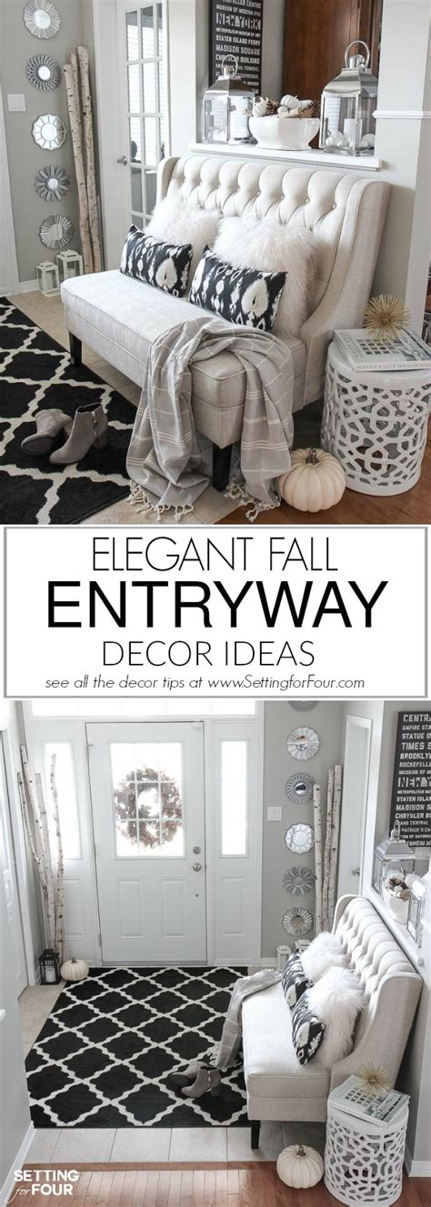 elegant and neutral christmas foyer setting for four my decor personalised home design