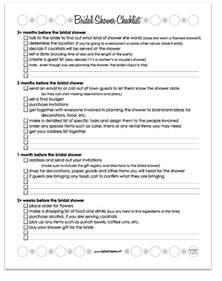 Bridal Shower Check List 6 Best Images Of Printable Bridal Shower Checklist
