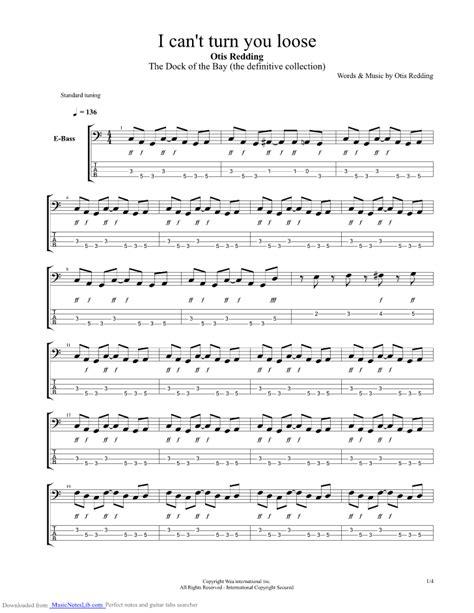 I Can t Turn You Loose guitar pro tab by Otis Redding @ musicnoteslib.com
