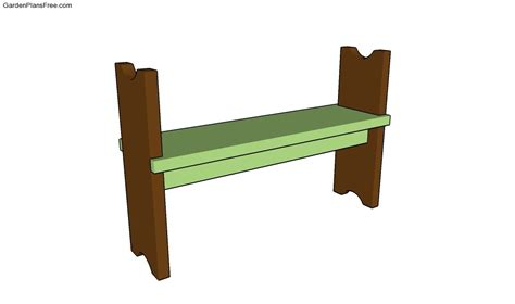 build simple bench attaching the slats free garden plans how to build