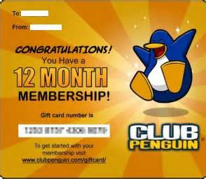 club penguin gift card animal showtellyou com - Club Penguin Gift Card Codes