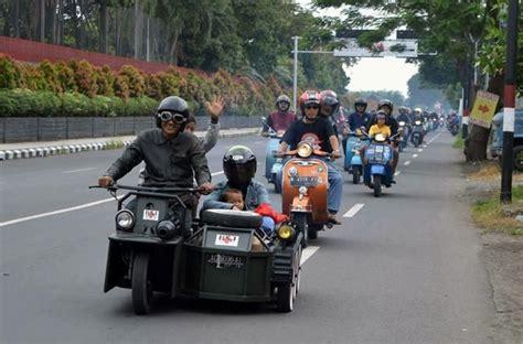 Kursi Roda Kediri silaturahmi anak istri keluarga scooterist kediri