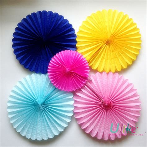 How To Make Honeycomb Paper Flower - 10 100ps free shipping honeycomb flower lantern fan