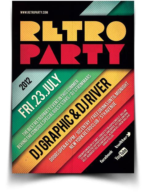 Retro Flyer Retro Typography Flyer Poster