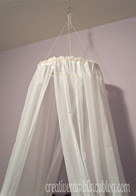Hanging Canopy From Ceiling by Easy Diy Princess Canopy Creative Ramblings