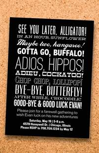 college farewell invitation letter best 25 going away ideas on