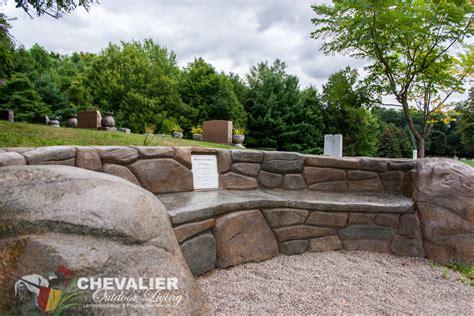 concrete memorial bench concrete memorial bench chevalier outdoor living