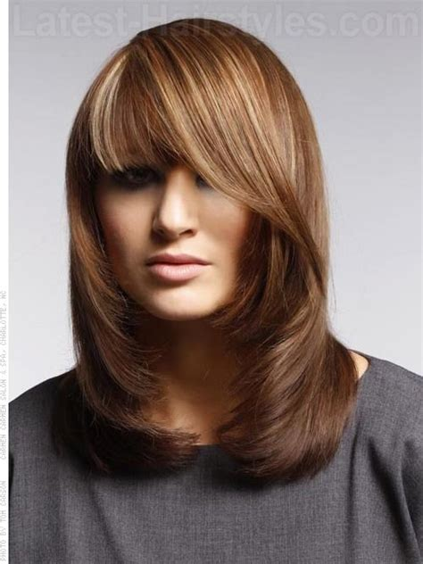 hairstyles for square face and short neck chic shag how to style use round brush for blow out it