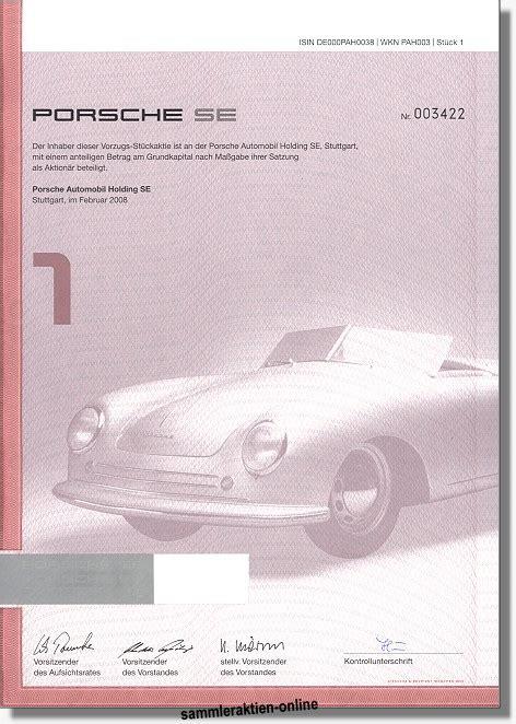 Porsche Automobil Holding Se by Porsche Automobil Holding Se Unentwertet Und Mit Coupons