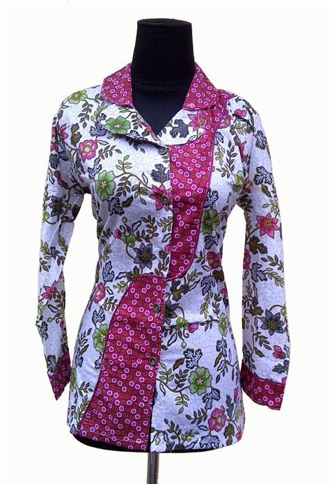 Baju Batik model baju dress batik modern terbaru holidays oo