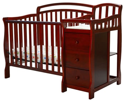 mini cribs with changing table on me casco 4 in 1 mini crib and changing table