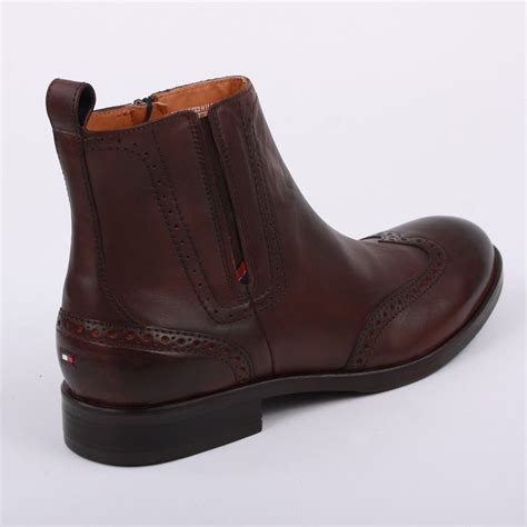 hilfiger aaron 15a mens zip leather ankle boots