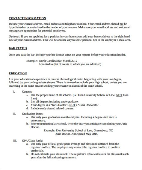 sle legal resume template 13 free documents in pdf word