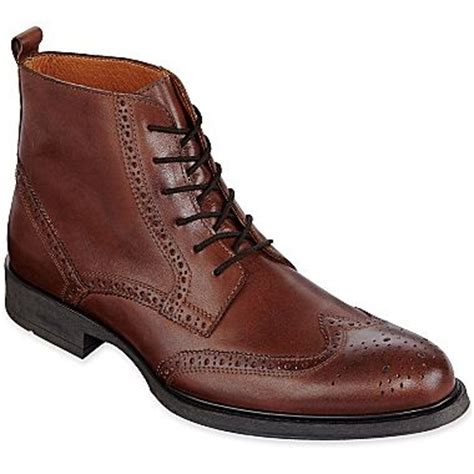 jcpenney mens boots stafford 174 camlin mens boots jcpenney shoes