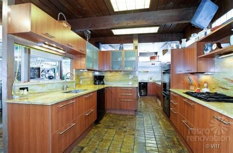 mid century modern kitchen flooring 1952 time capsule house with original terracotta