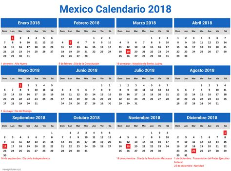 Korea Calendario 2018 Calendario 2018 En Mexico Newspictures Xyz
