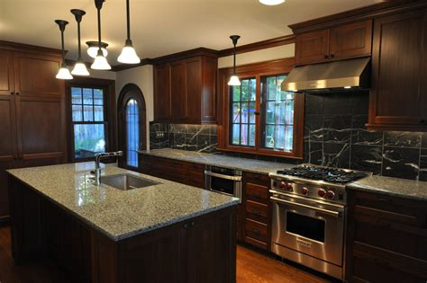 kitchen ideas with dark cabinets 10 black wood kitchen cabinets designs