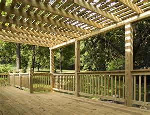 Pressure Treated Pergola by Cedar And Pressure Treated Deck And Pergola Pictures Built