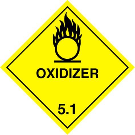 placardcontainer label mmxmm class  oxidizer
