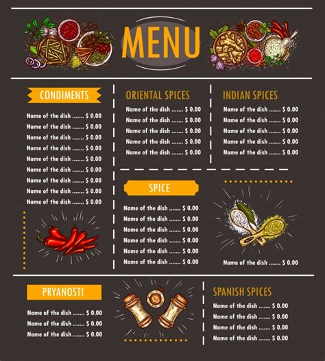 menu with pictures template menus vectors photos and psd files free