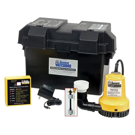 basement watchdog emergency battery backup sump