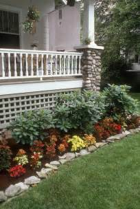 hometown landscaping coleus garden next to house porch and lawn plant